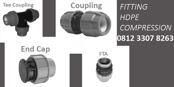 Jual Fitting HDPE Compression | Coupling, Reducer Coupling, FTA http://hargapipahdpe.co.id